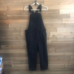TopShop Moto Faded Black Cropped Overalls Size 30